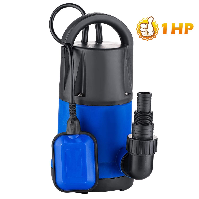 1HP Submersible Sump Pump Water Pump Clean/Dirty Water Pump