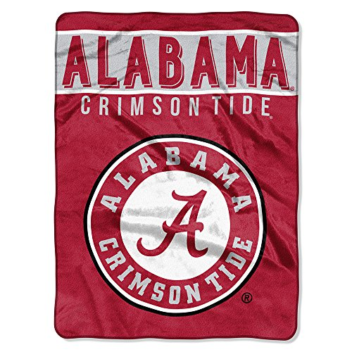 - The Northwest Company Officially Licensed NCAA Alabama Crimson Tide Basic Plush Raschel Throw Blanket, 60