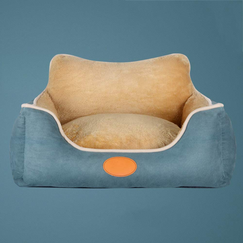 B Large B Large Washable Dog Bed for Large Medium Small Dog, Soft Cozy Non-Skid Suede Pet Nest Four Seasons Universal Pet Mat bluee,B,L