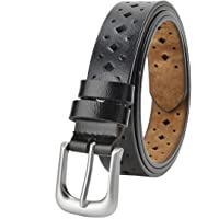"Women Hollow Leather Belts for Regular & Plus Size 31""-55"" Waist Jeans Dresses Suit Casual Pants Waist Belt with Pin…"