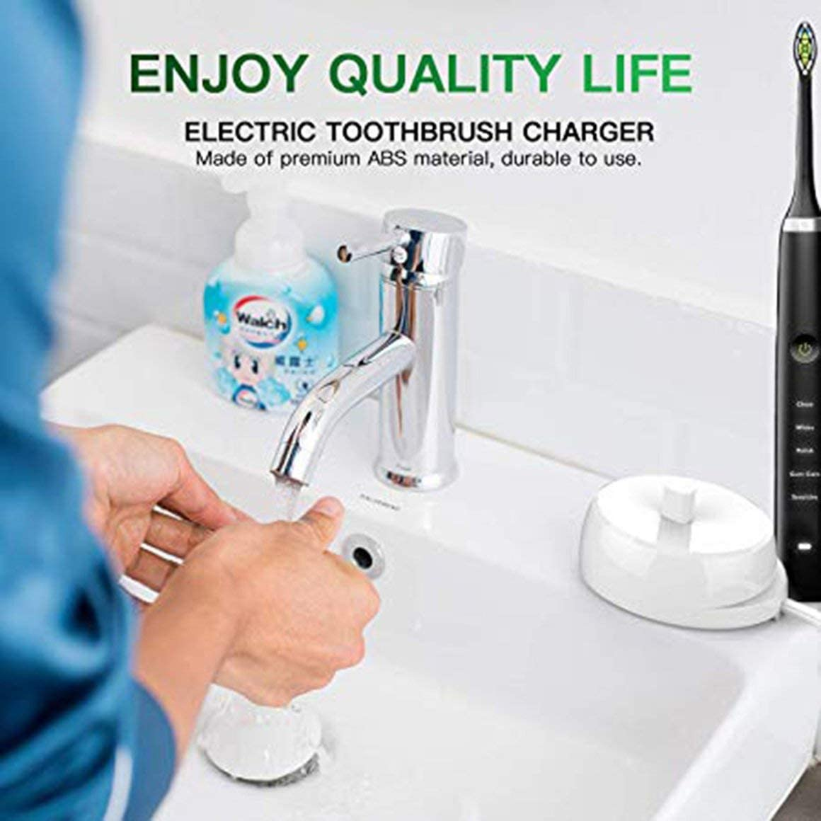 Funnyrunstore 220V Cargador de repuesto para cepillo de dientes eléctrico, modelo 3757, adecuado para Braun Oral-b D17 OC18 Cuna de carga para cepillo de dientes (blanco; enchufe de la UE): Amazon.es: Salud
