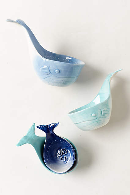 Whale-Tail Measuring Cups - anthropologie.c​om