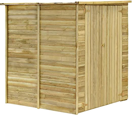 Tidyard Cobertizo para jardín de Madera Pino impregnada 157x159x178 cm, Puerta Doble para facilitar el Acceso: Amazon.es: Jardín