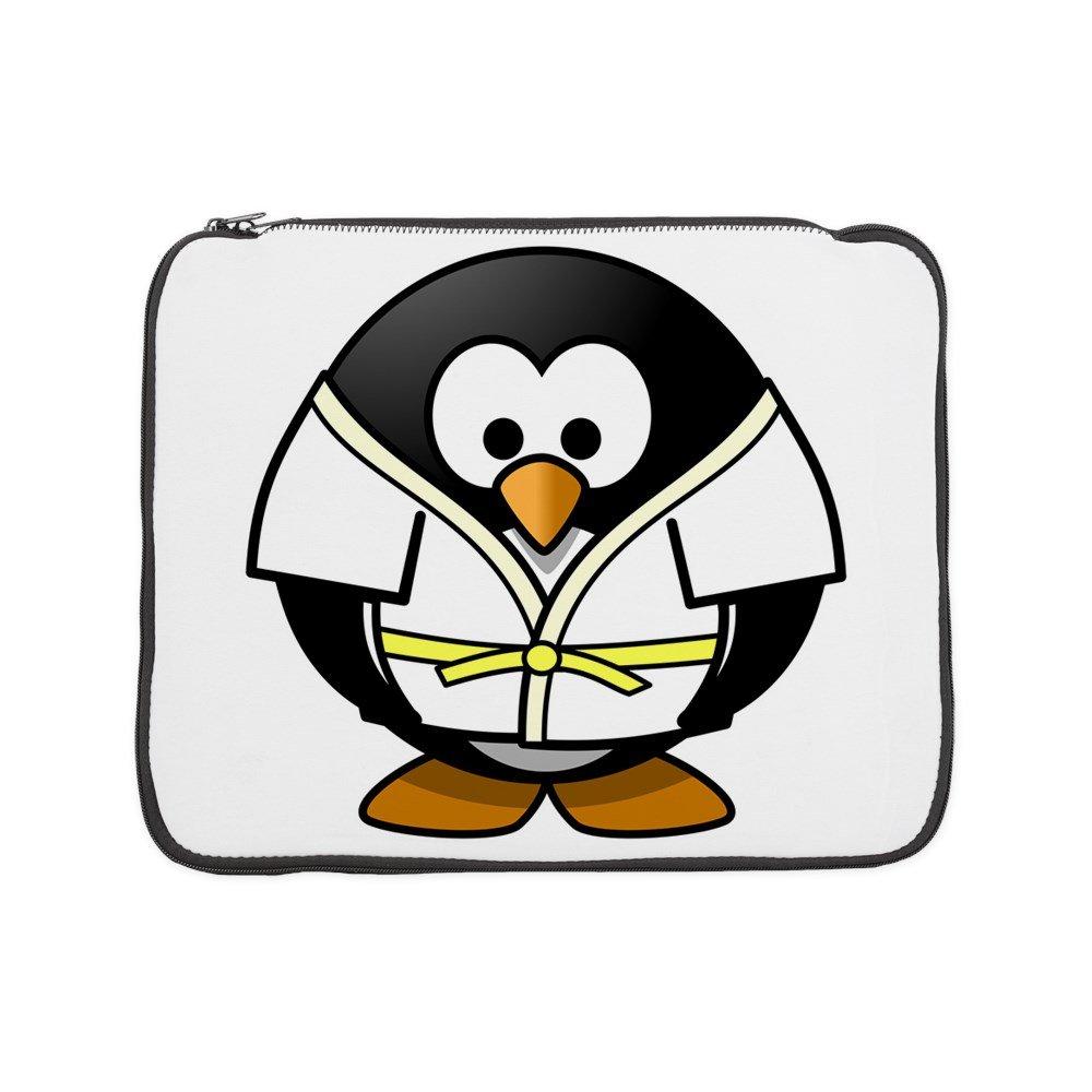 15インチラップトップスリーブLittle Roundペンギン – 武道空手柔道 B06XQGY479