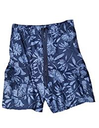 1491175618 Navy Hibiscus Tugger Above Knee 20.5