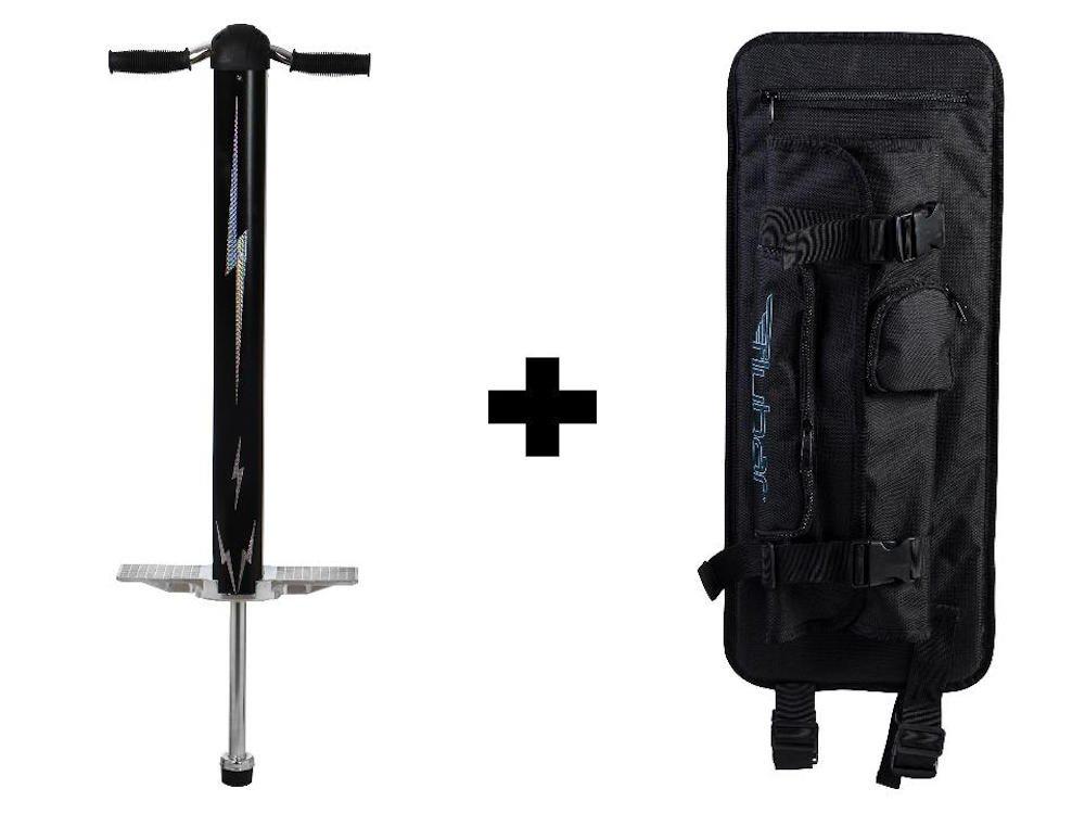 Flybar Super Pogo 2 & Pogo Stick Backpack Carrier (Black/Silver)