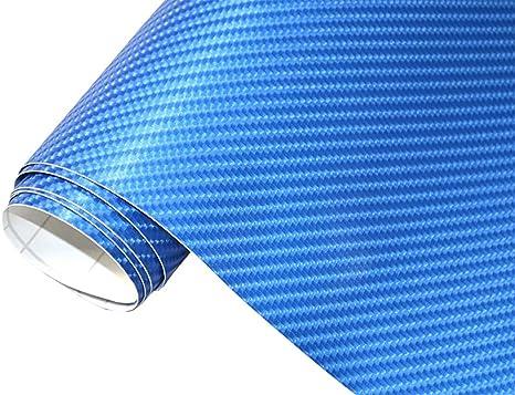 Neoxxim 24 22 M2 Premium Auto Folie 4d Carbon Folie Blau Metallic 4d 30 X 150 Cm Blasenfrei Mit Luftkanälen Ca 0 15mm Dick Folierung Folieren Bekleben Küche Haushalt