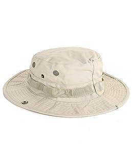 Fansi Pescador Al aire libre Montañismo Pesca Selva Ocio Protección solar Sombrero Boina para Hombre Caqui 60 cm