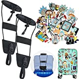 Bag Bungee - Armix Luggage Bungee Strap Add a Bag Suitcase Adjustable Belt, with 36 pcs Laptop and Luggage Stickers (2 pack)