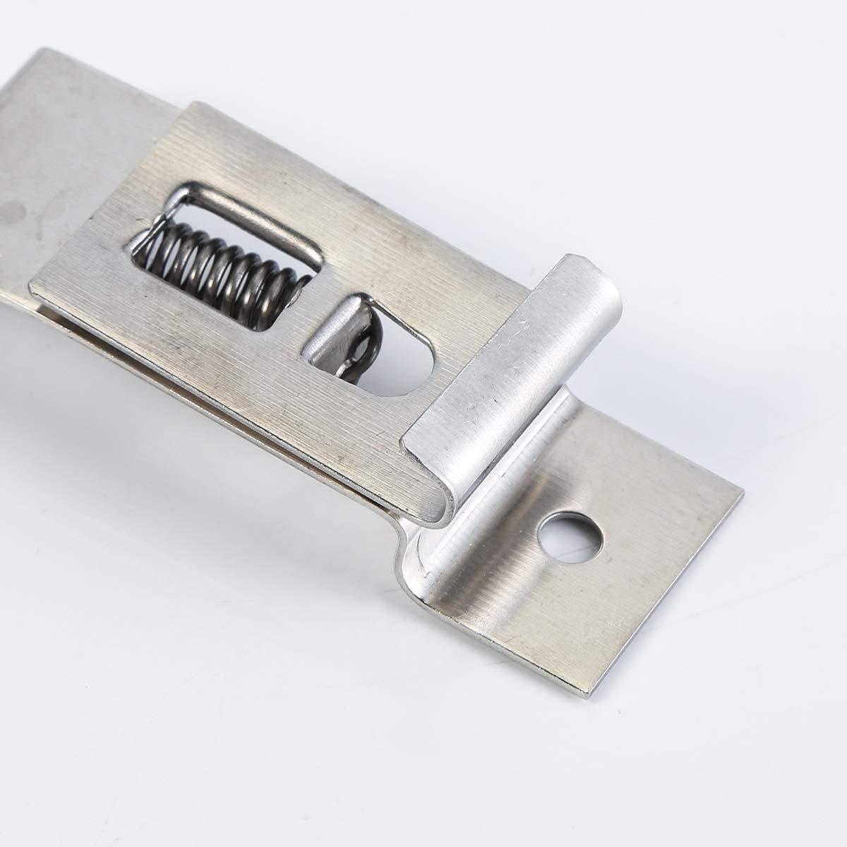 8101.730 Supporto per piastra portatarga per gancio in acciaio inossidabile caricato a molla per camion//semirimorchio//auto//nave
