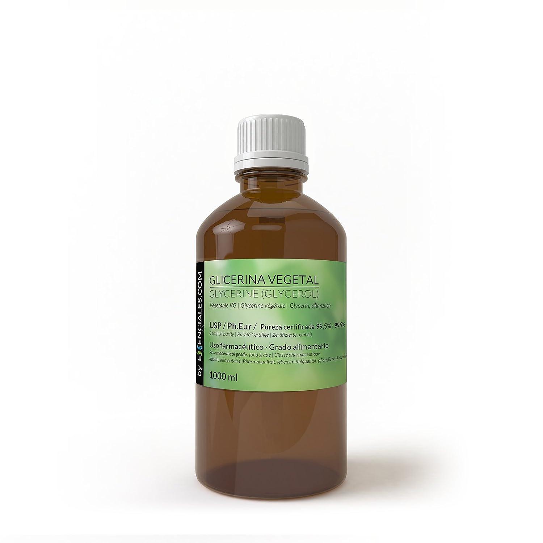 Glicerina vegetal USP/Ph.Eur - Pureza Certificada - 1 litro (1,26 Kgs) - VG Base