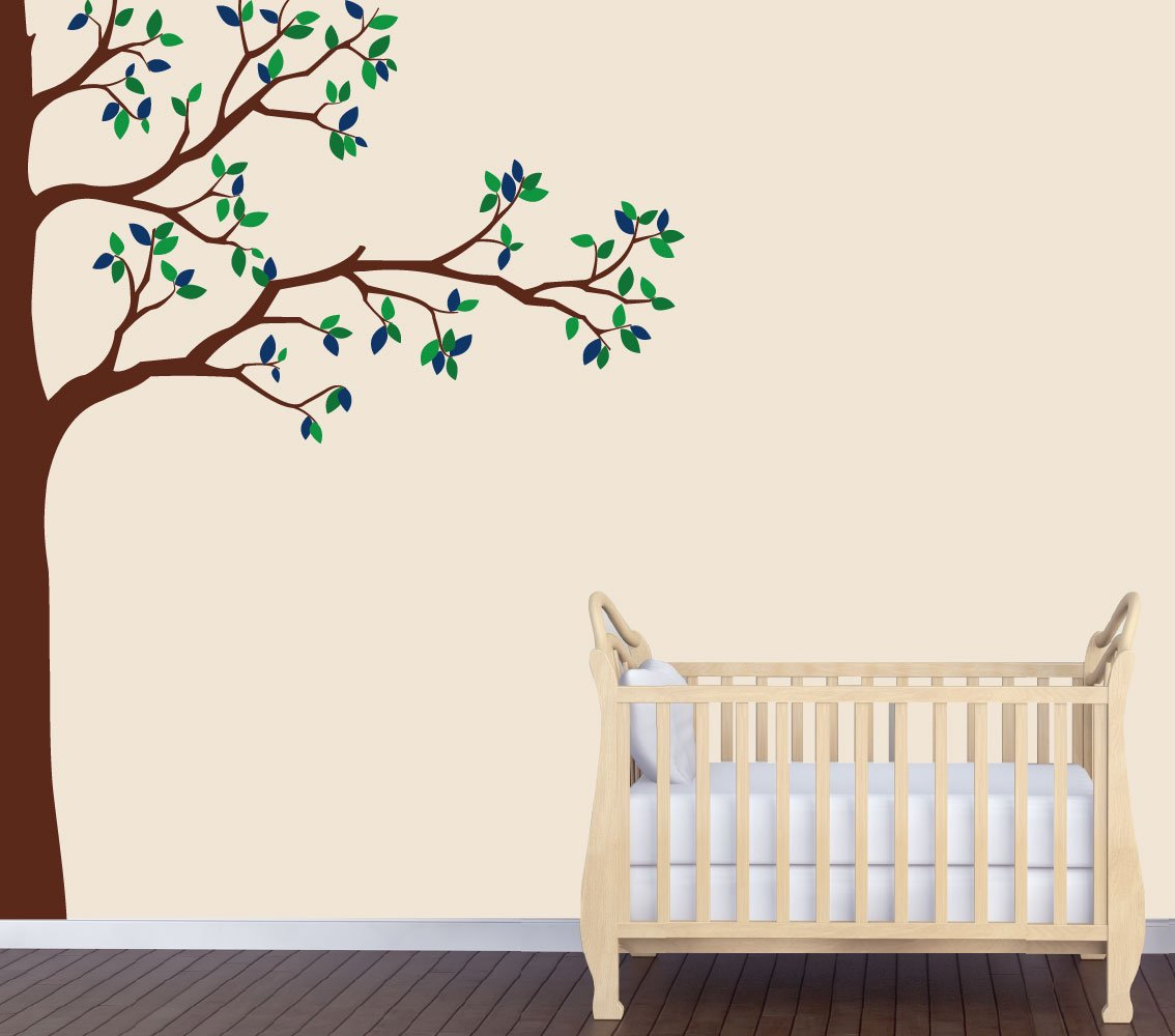 Superb Amazon.com : Babys Nature Wall Decal, Blue Tree Wall Art, Babys Nursery :  Baby