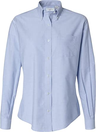 Van Heusen Ladies Oxford Shirt at Amazon Women's Clothing store ...