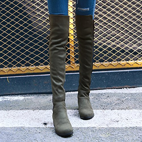 AIYOUMEI Women's Classic Boot Grün idDq4cu