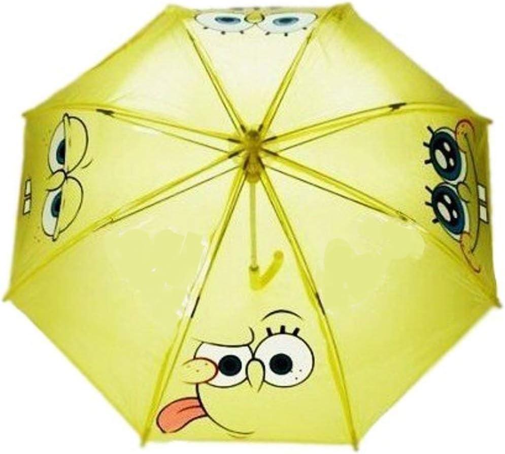 Parapluie Bob l/'éponge 64 cm diamètre parapluie métal et polyester canne parapluie