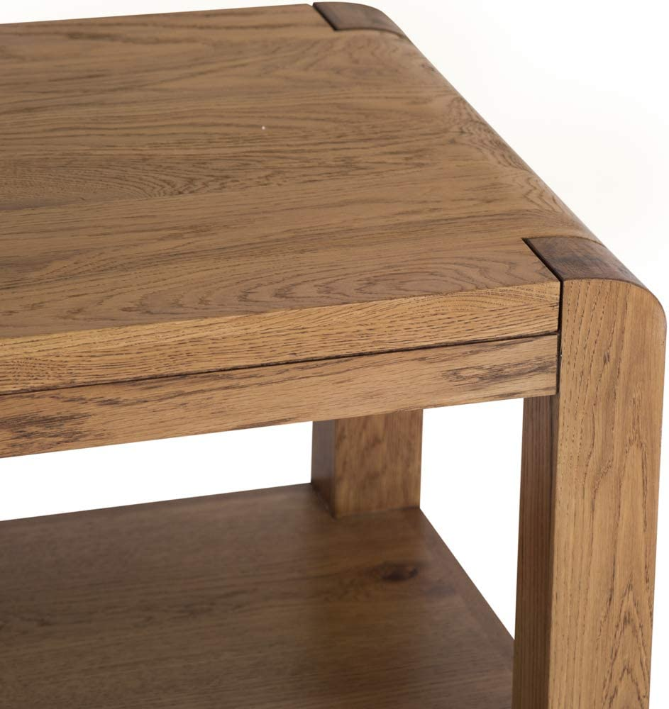 The Furniture Outlet Oslo Rustic Oak Coffee Table With Shelf