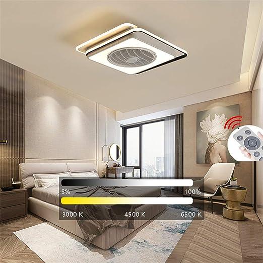 YAOXI LED Fan Luz De Techo, Ventilador del Techo con Iluminación ...