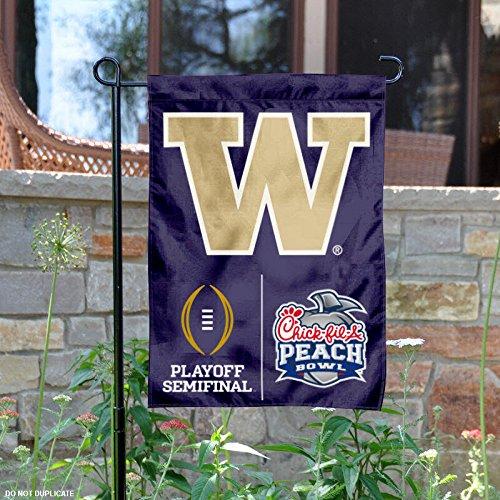 University of Washington Huskies 2016 Semifinal Peach Bowl Garden Flag