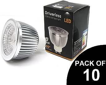 Pack de 10 Bombillas LED GU10 de ahorro de energía super brillante ...