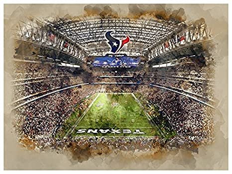 Amazon Com Atlas Houston Texans Poster Watercolor Art Print 12x16