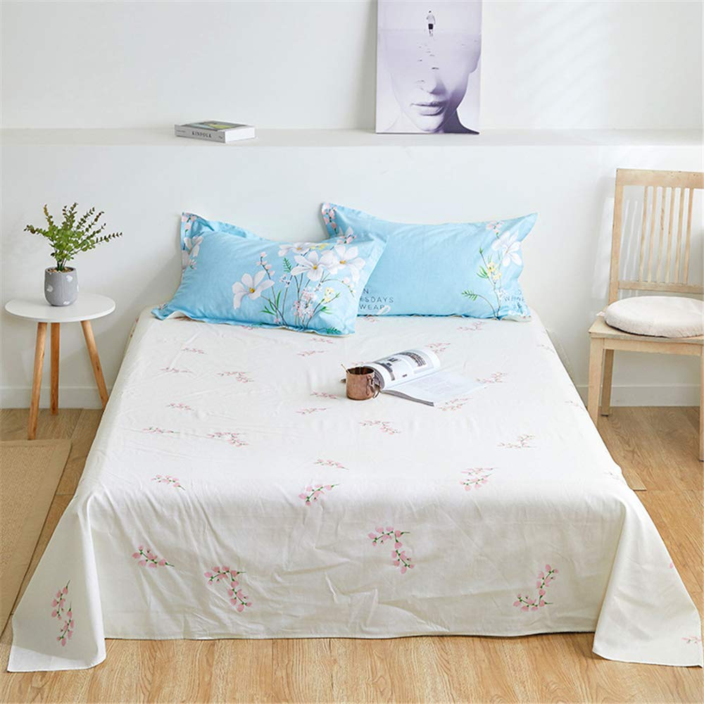 Multi-Standard Cotton Sheets one-Piece Printed Cartoon Cotton Non-Slip Twill Quilt Single Double Student Dormitory Quiet Life 200230cm by iangbaoyo
