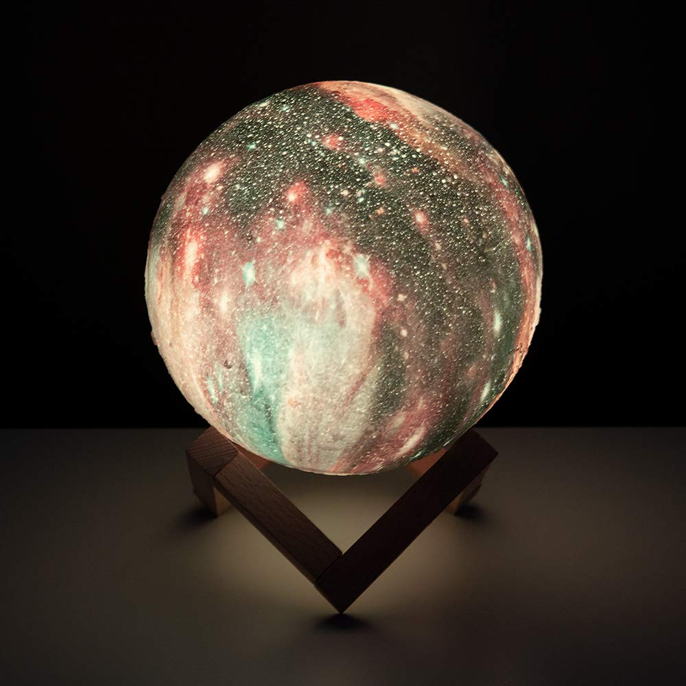 BRIGHTWORLD Moon Lamp, 3D Moon Light with Wooden Stand Rechargeable Moon Lamp Night Light Lamp 16 LED Colors Remote Touch Control Dimmable Decorative Moon Light for Baby Kids Birthday Party (5.9 inch) by BRIGHTWORLD (Image #2)