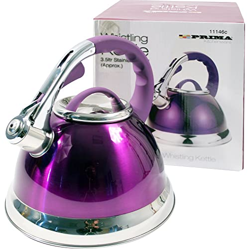 Prima 3.5 L Stainless Steel Kettle Gas/Electric Hob Purple
