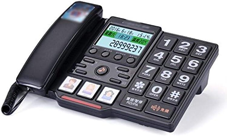 Postura ZH Teléfono Fijo Tipo de Asiento Máquina para Sentarse en casa Botón de Timbre Grande