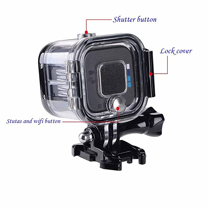 Suptig Replacement Waterproof Case Protective Housing for GoPro Session Hero 4session, 5session Outside Sport Camera For Underwater Use - Water ...