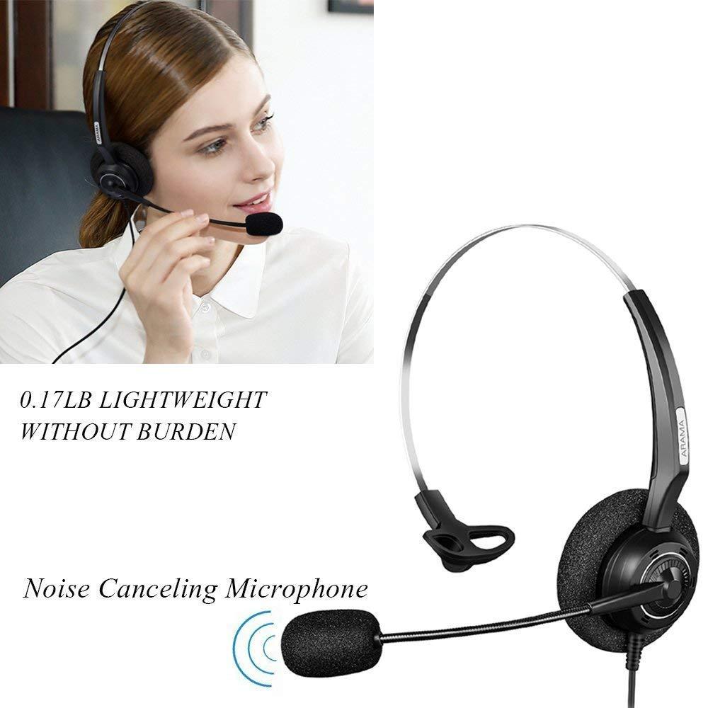 8961 8841 8945 8845 8851 7942 9951 7941 8861 7971 Arama A200C1 Cuffie telefoniche Professionali con Microfono a cancellazione di Rumore Solo per telefoni IP Cisco: 6921 ECC. 9971 6941
