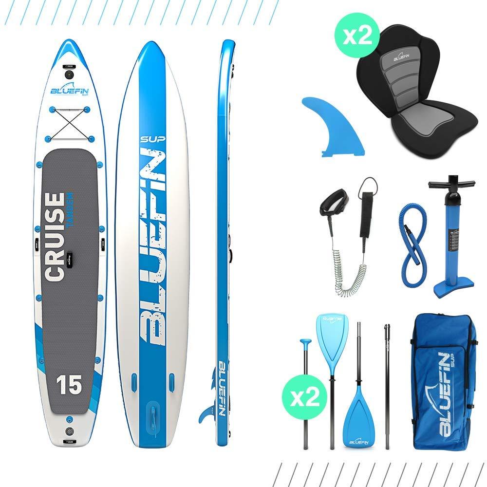 【公式ショップ】 BluefinインフレータブルパドルボードSupスタンドUp ' With Kayak変換キット| Ultimate Blue 8 iSUP Kayakバンドル| Available in様々なサイズ(10 ' 8
