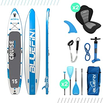 Bluefin SUP Cruise Tabla para Surf de Remo, Unisex Adulto, Azul 457cm, 15