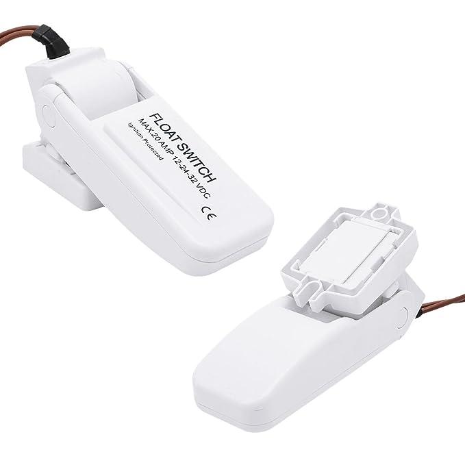 MuZuZi Bomba eléctrica automática Interruptor de flotador Controlador de nivel Medidor de nivel de agua: Amazon.es: Bricolaje y herramientas