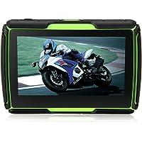Rupse - GPS Moto Navigation Navigateur Motorcycle Waterproof IPX7 Portable Universel Écran Tactile 4,3 Pouces Avec Carte Gratuite Multimédia Lecteur Mp3 Vidéo Bluetooth Haut-parleur Pour Moto Vélo Voiture (Vert)