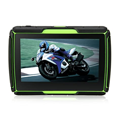 Rupse-Navegador GPS para navegación Motorcycle Waterproof al agua portátil universal pantalla táctil de 4