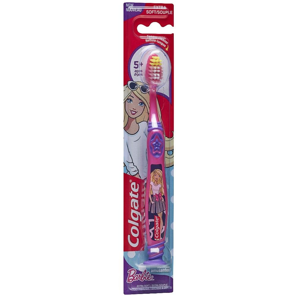Colgate Kids Barbie Toothbrush, Extra Soft, 1 Count 313449