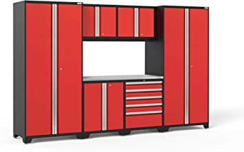 Newage Products Pro 3 0 Series Stainless Steel Storage Set 7 Piece Red 52253 Home Improvement