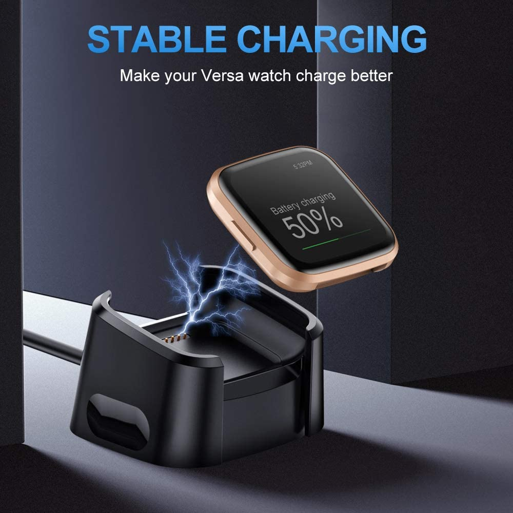 Replacement USB Charging Cable Cord Cradle Dock Accessories for Versa 2 Smartwatch Only CAVN Charger Cable Compatible with Fitbit Versa 2 Not for Versa