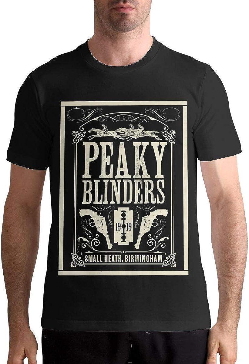 ANGSHI6 Camisa de Hombre Peaky Blinders Man Particular Short Sleeve Tshirts
