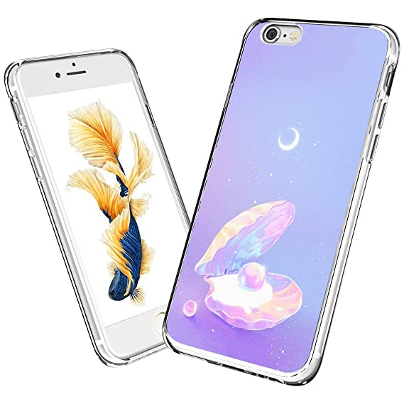 Amazon.com: iPhone 6s 6 Case,Clam with Pearl Case for ...