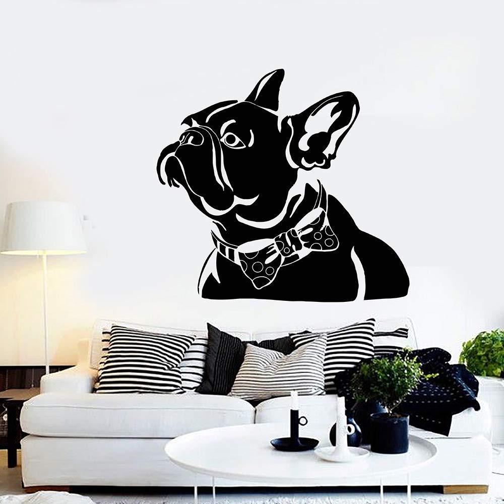 Resumen Mascota Bulldog Francés Pajarita Casa Animal Vinilo ...