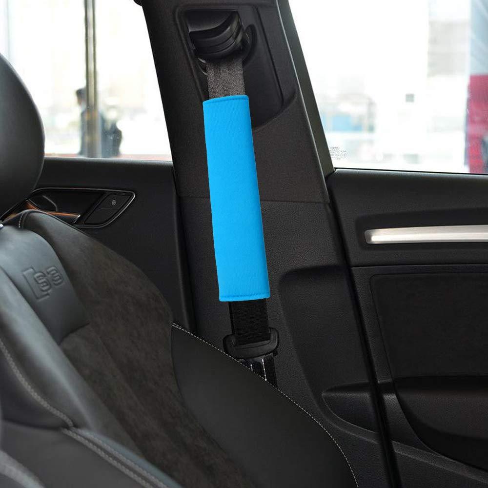 Blue-4P Laptop Bag Suitable for Car Seat Belt 4-Pack Soft Car Seat Belt Shoulder Pad Cover for Adults and Kids Airzir Car Seat Belt Cover Pad Backpack Shoulder Bag A Must Have for Your Car