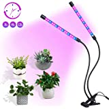 ALJ Plant Grow Light USB on Desk 18W Growing Lamp for Indoor Greenhouse with Timer 360° Rotation Full Spectrum LED 36 Bulb for Succulent Plants (2-Heads) (Black)