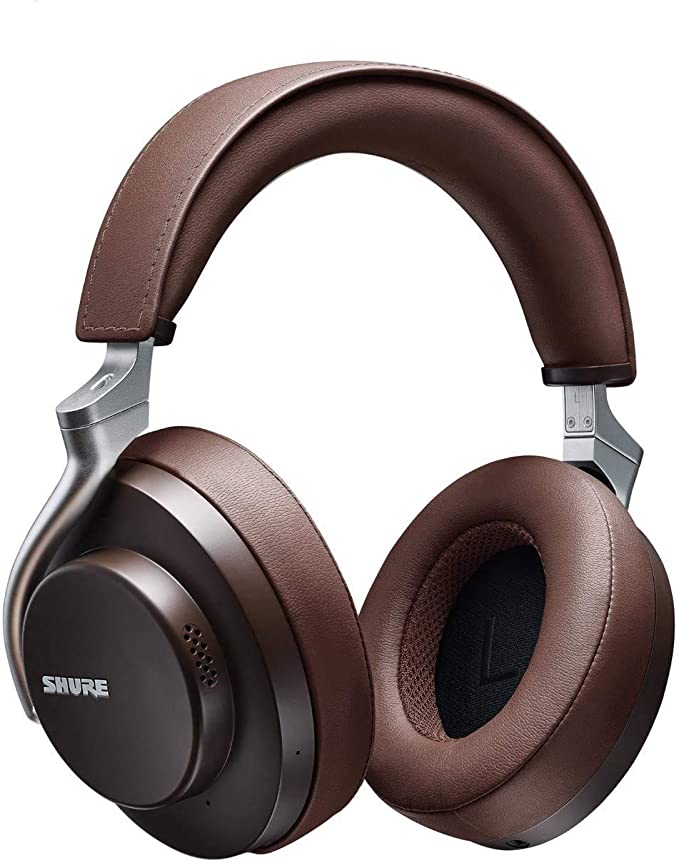 Amazon.com: Shure AONIC 50 Wireless Noise Cancelling Headphones, Premium Studio-Quality Sound, Bluetooth 5 Wireless Technology, Comfort Fit Over Ear, 20 Hours Battery Life, Fingertip Controls - Brown: Musical Instruments