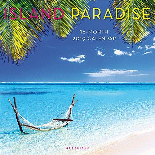 Graphique Island Paradise Wall Calendar, 16-Month 2019 Wall Calendar with Island Landmark Photographs, 3 Languages & Major Holidays, 2019 Calendar, 12
