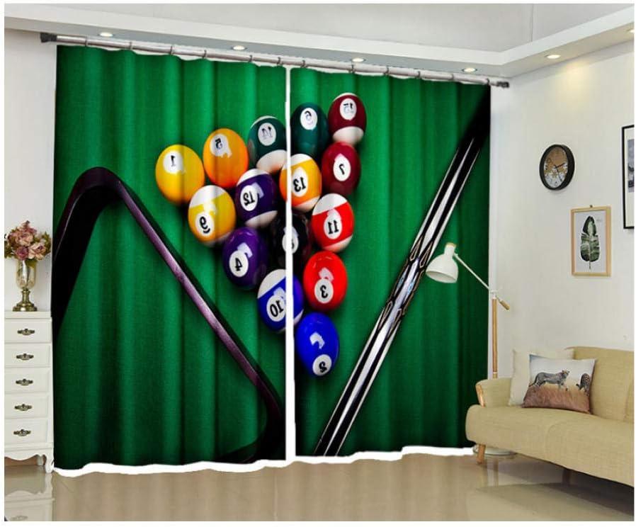 WKJHDFGB Cortinas 3D Cortinas Billar Dormitorio Sala De Estar ...
