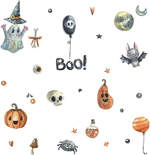 Happy Halloween Magic Witches Hat Wall Art Bedroom Living Decal Vinyl Sticker