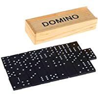 Bumble Rock Wood 28 Double 6 Domino Chip Game Set