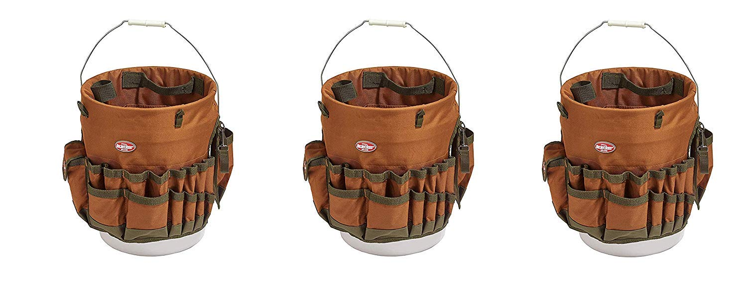 Bucket Boss The Bucketeer Bucket Tool Organizer in Brown, 10030 (Pack of 3) by Bucket Boss (Image #1)