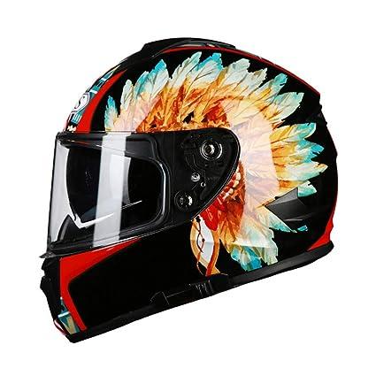 Amazon.es: Casco de moto Negro ABS Casco de moto Hombres Cubierta ...